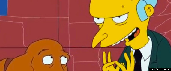 THE SIMPSONS MR BURNS MITT ROMNEY