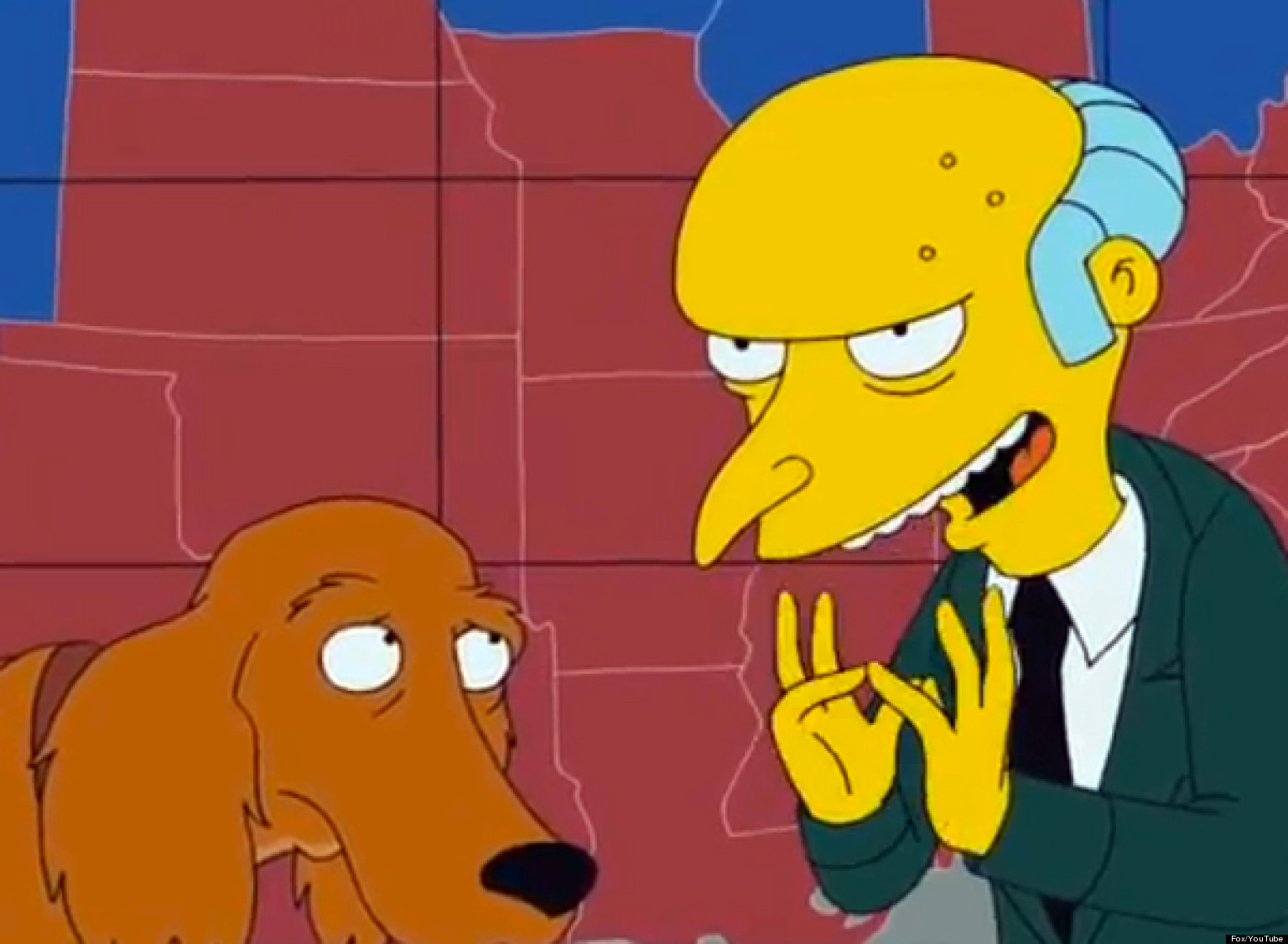 The Simpsons Mr Burns Endorses Mitt Romney Video