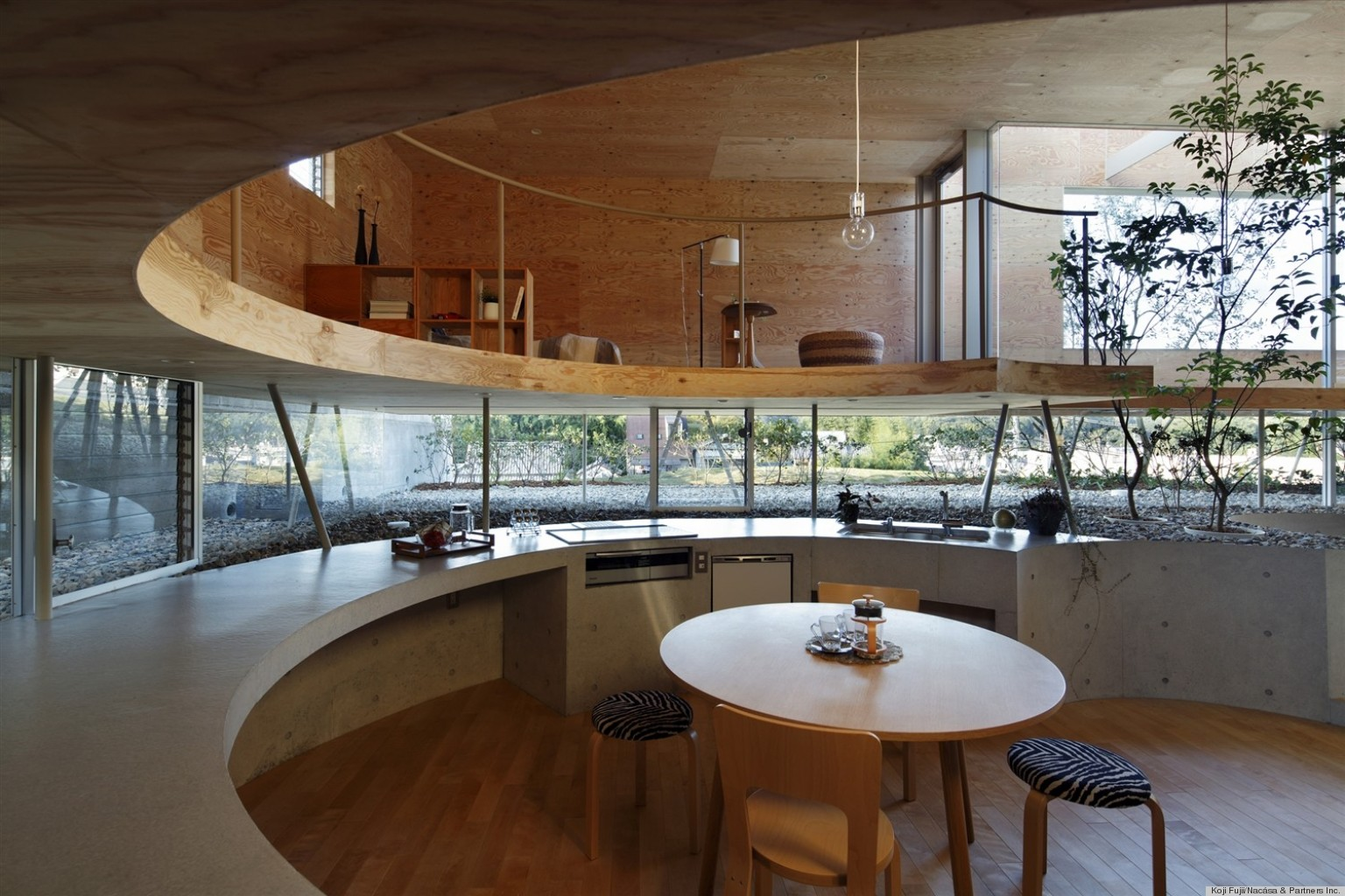 Круглый дизайн дома