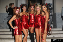 Horny Little Devils! The Saturdays Turn Heads In Barely-There Costumes At Maroon 5 Halloween Party