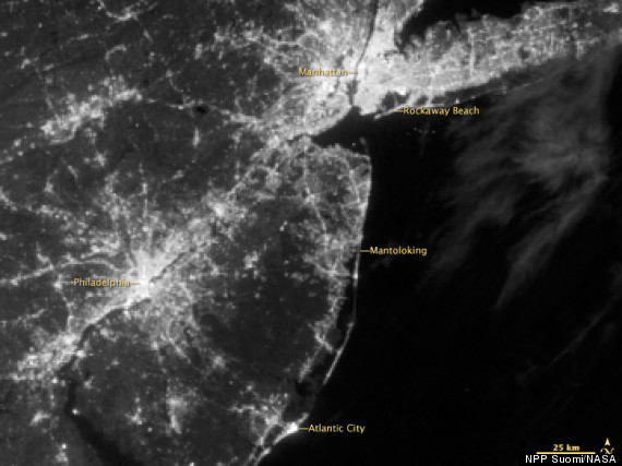 sandy blackouts from space before