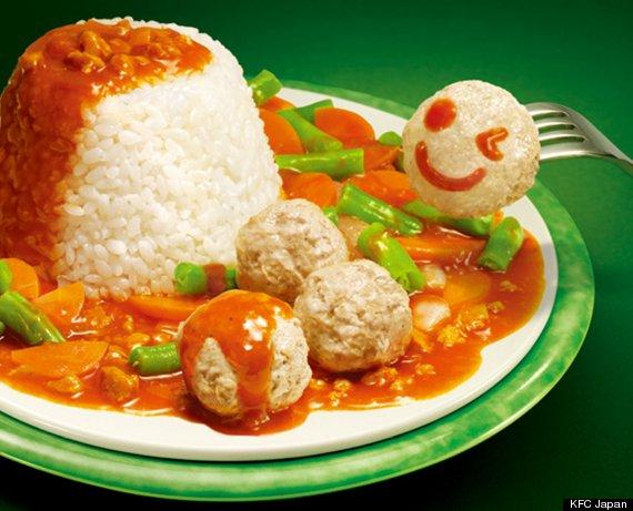 kfc japan smiling meatball