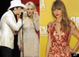 Carrie Underwood Brad Paisley Taylor Swift