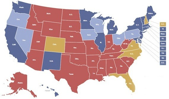 presidential election map