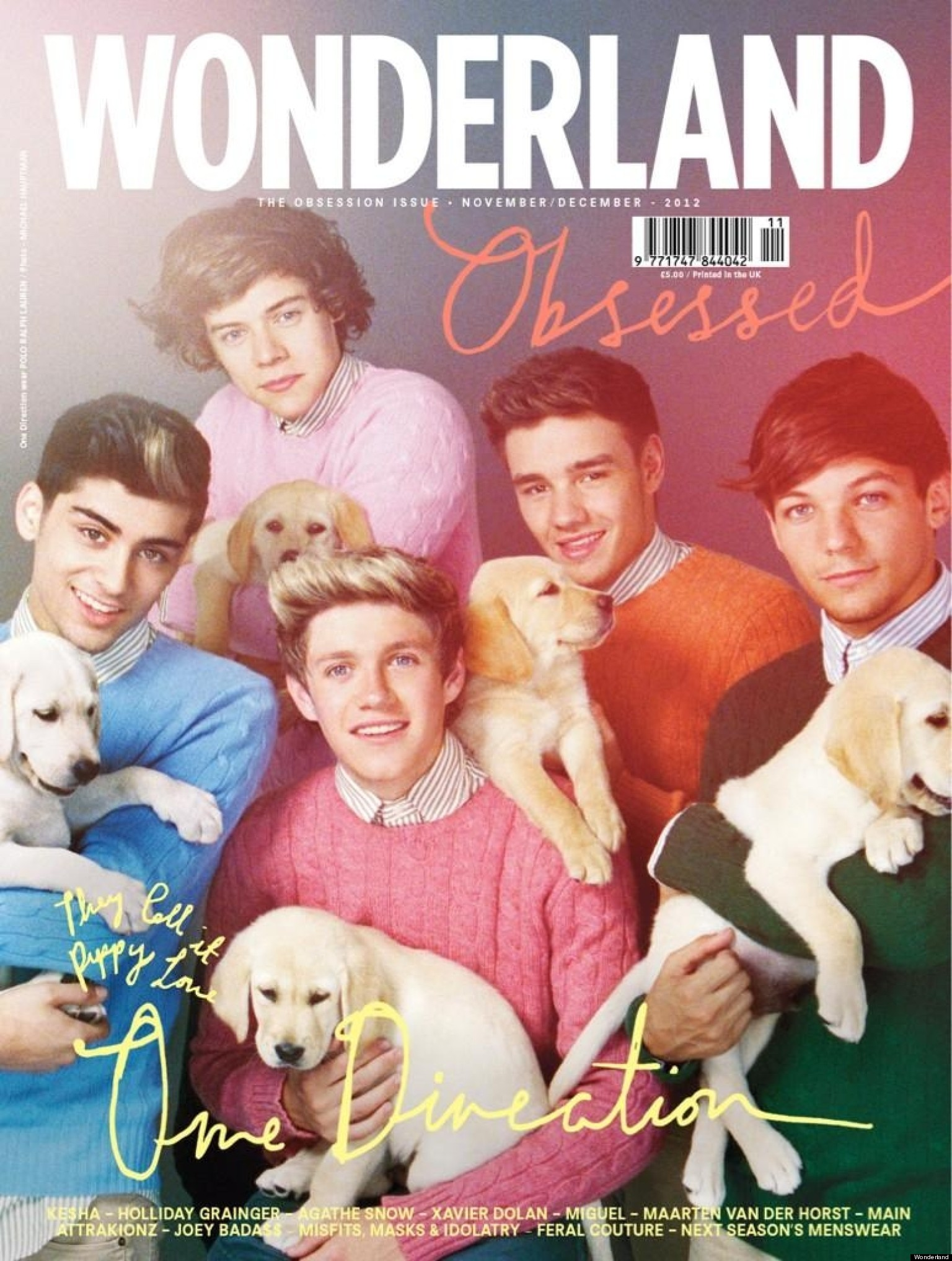 One Direction в журнале Wonderland.  Ноябрь / декабрь 2012.