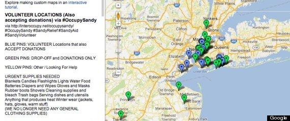 google maps hurricane sandy