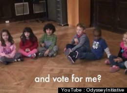Kids Ask Americans To 'Vote For Me Until I Can'