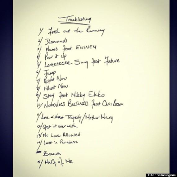 unapologetic tracklist