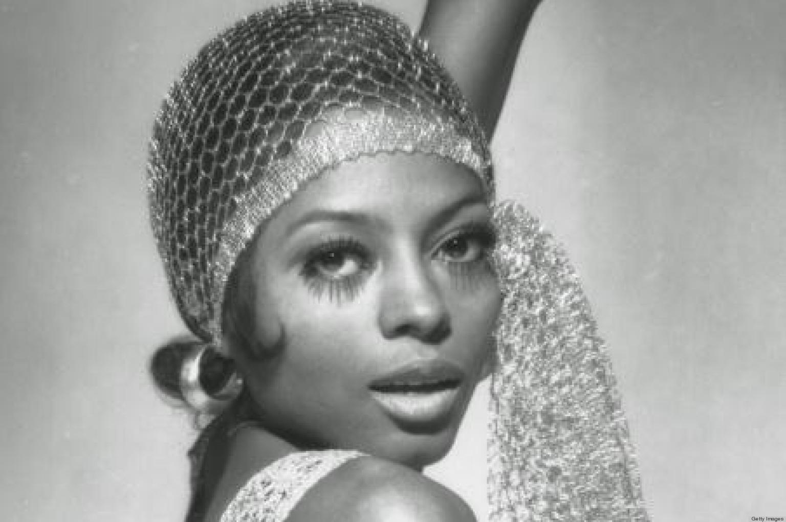 diana ross is the ultimate diva in a scarf and hoops photo