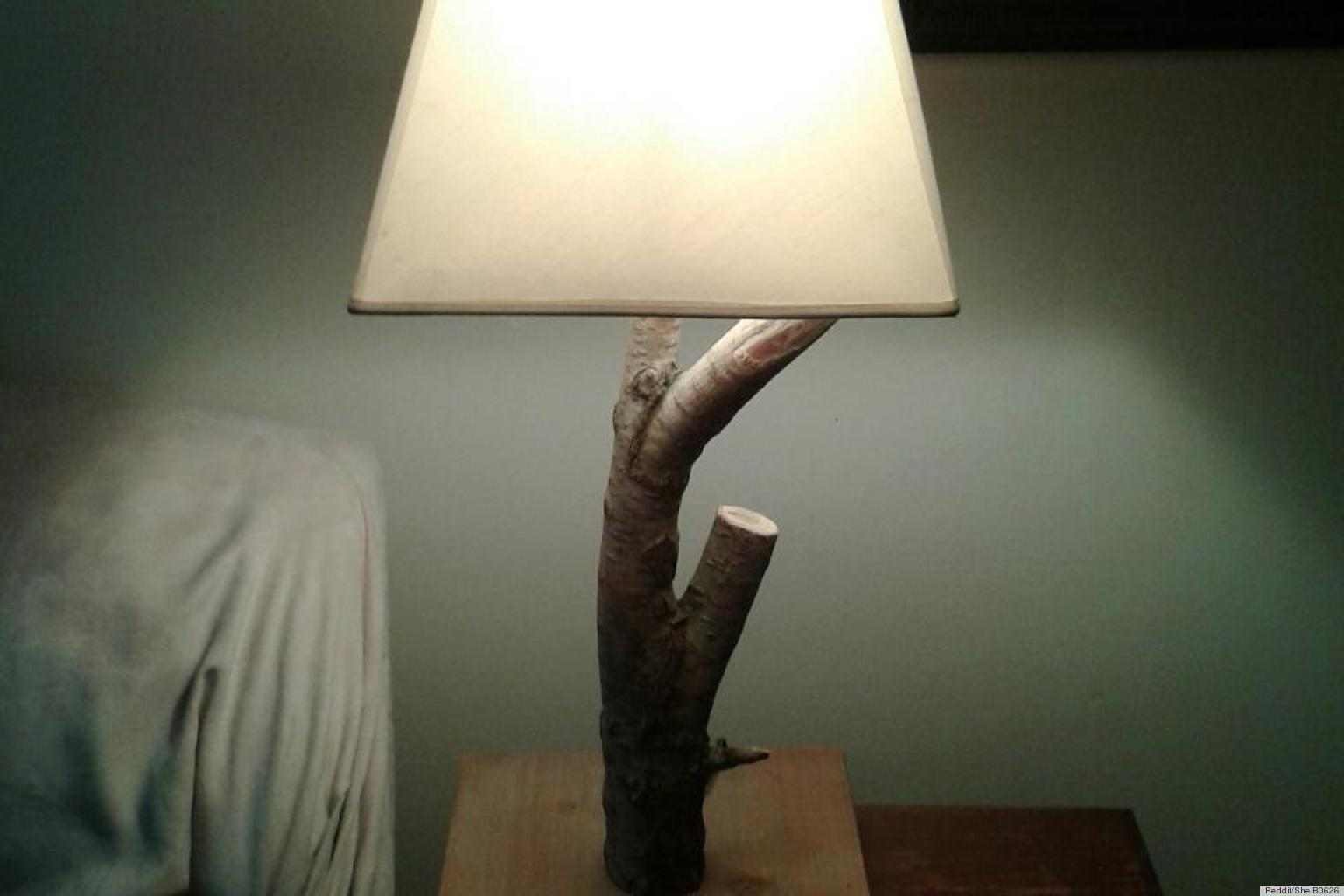 Tree Branch Lamp On Reddit And 8 Other DIY Ideas Using Fallen Trees ...