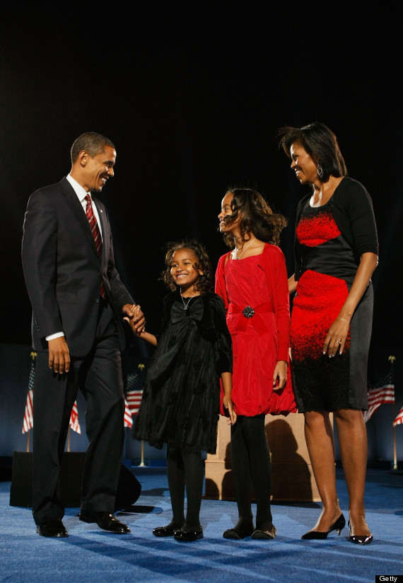 malia and sasha obama 2008 election