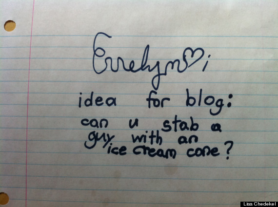 cute kid note of the day idea for blog