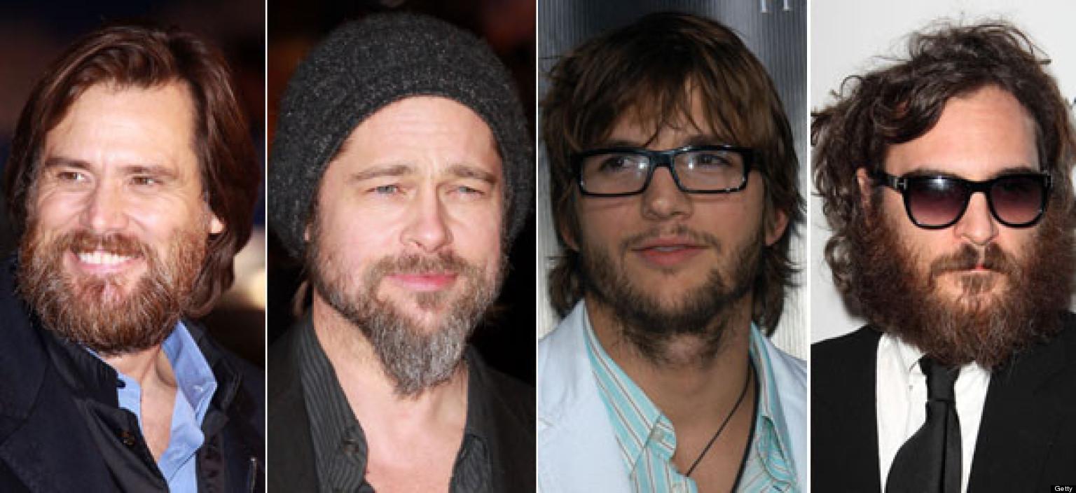 Weird Facial Hair Styles: Celebrities' Facial Hair: Brad Pitt, George Clooney And