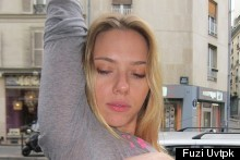 Scarlett Johansson Gets A Lucky Tattoo