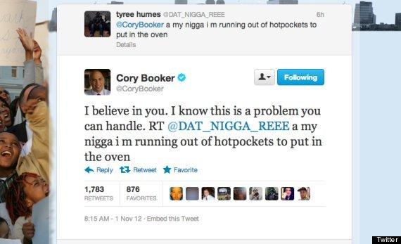 cory booker hot pockets
