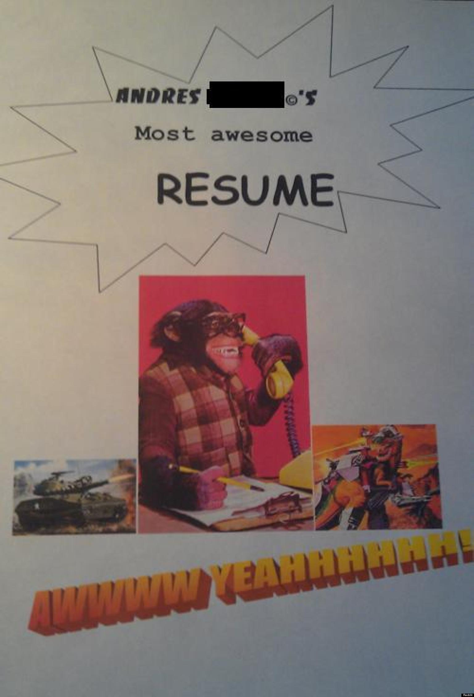resume Funny Resumes 21 funny cover letters photos huffpost