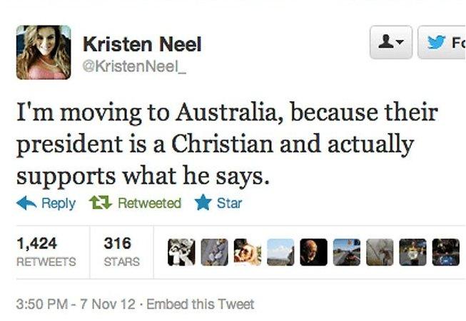 kristen neel australia tweet
