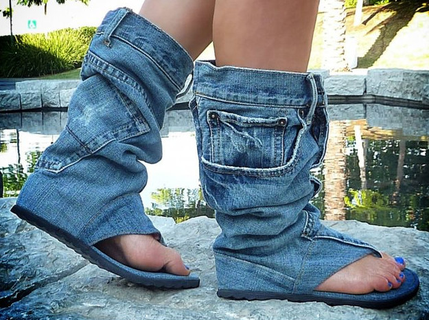 most ugly shoes in the world are these jean sandal boots the ugliest