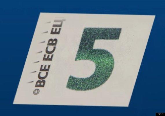 nuevo billete de euro numero verde