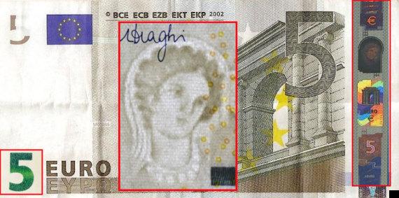 ecce homo en los billetes de 5 euros el cristo de borja se aparece en los nuevos euros foto. Black Bedroom Furniture Sets. Home Design Ideas