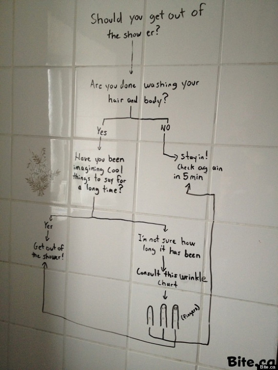 shower flowchart