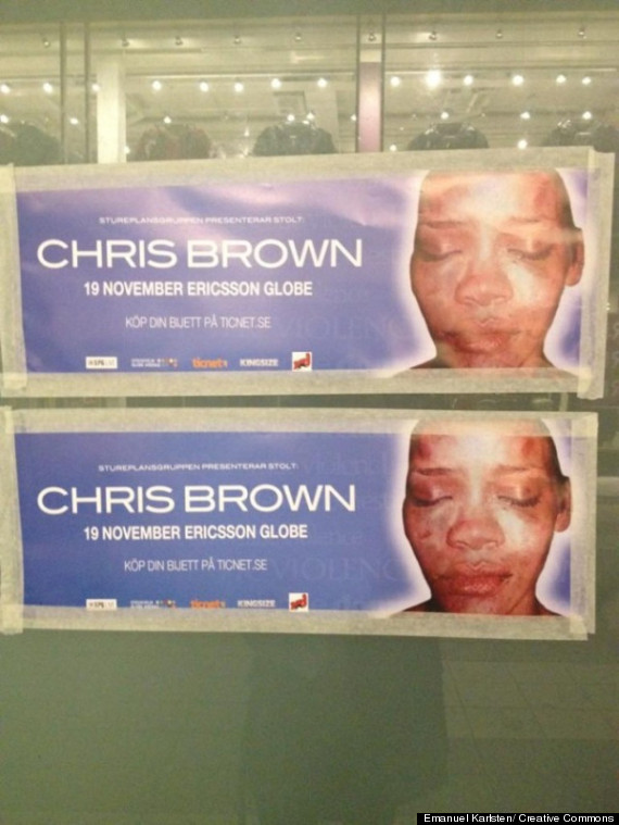 chris brown concert protested