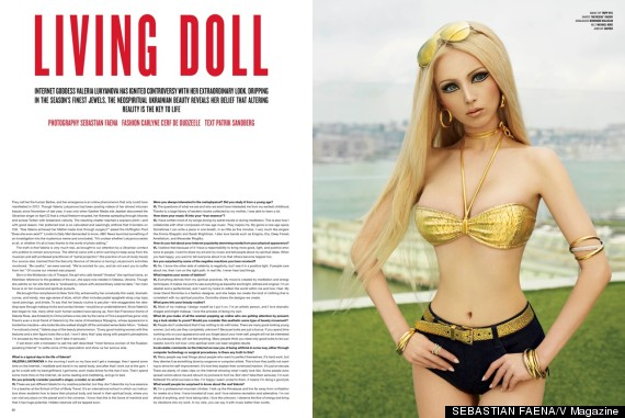 valeria lukyanova living barbie photos v magazine