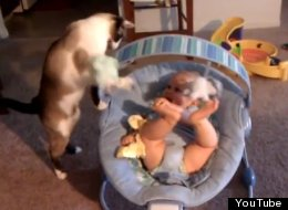 WATCH: That's One Way To Entertain A Baby