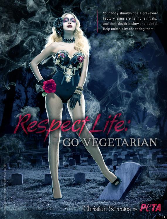 twilight actress christian serratos peta ad photo