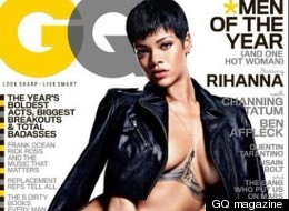 RiRi Goes Naked For GQ