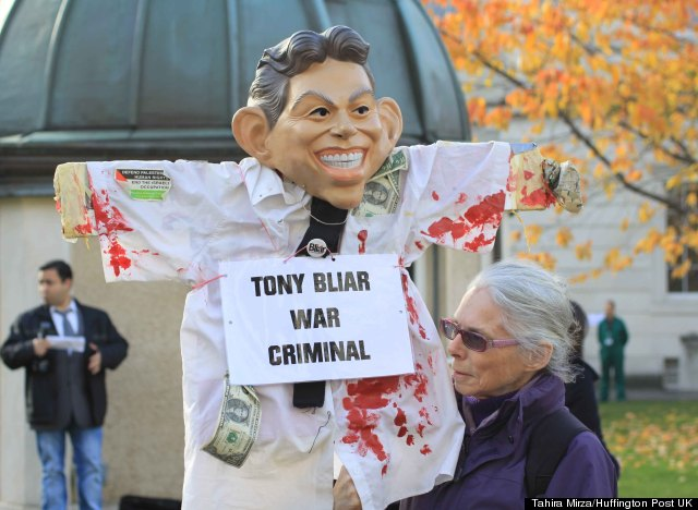tony blair protests
