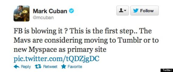 mark cuban facebook