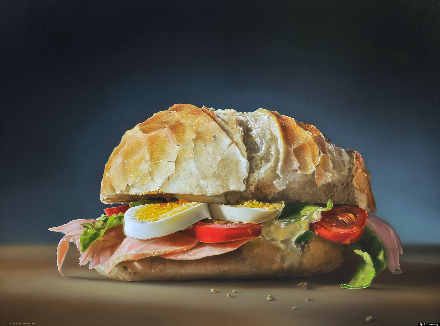 Tjalf sparnaay 39 s photorealistic food paintings will make - Hyper cuisine ...