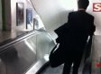'Drunk' Businessman Walks Down Up Escalator In London Underground (VIDEO)