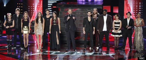 THE VOICE ELIMINATED MICHAELA PAIGE ADRIANA LOUISE