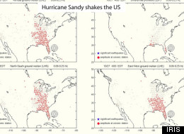 Hurricane Sandy Seismic Waves