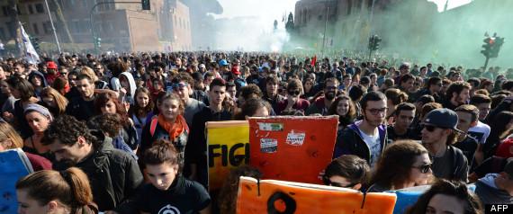 Manifestations Europe Austerite