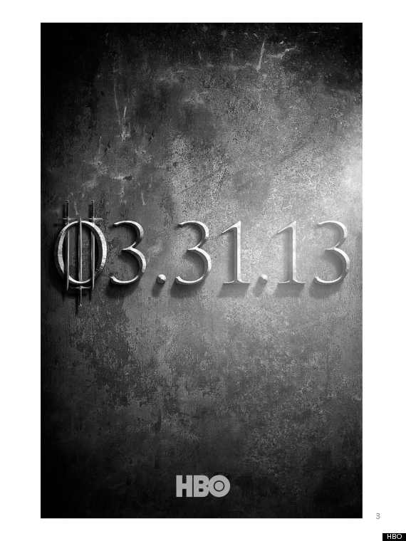 game of thrones season 3 teaser poster