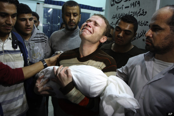Jihad Misharawi, of BBC Arabic, lost baby Omar after his house was struck in Israel's air strike on Wednesday.