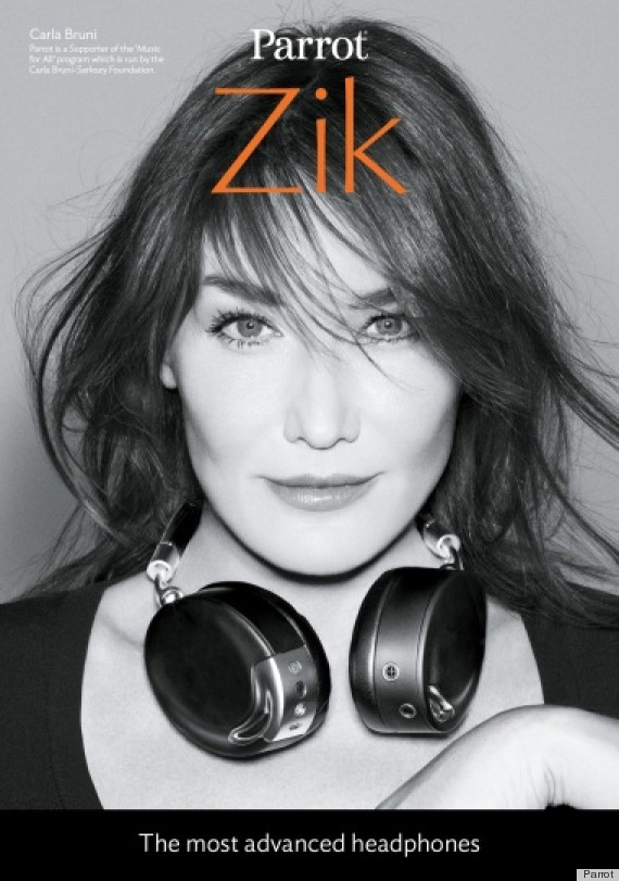 carla bruni headphone ads