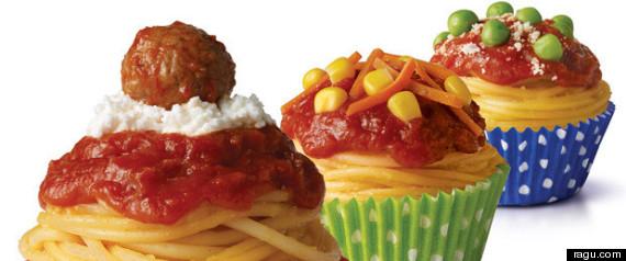 espagueti cupcake