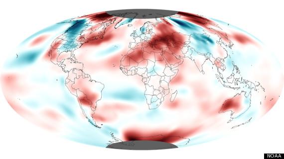 october 2012 5th warmest