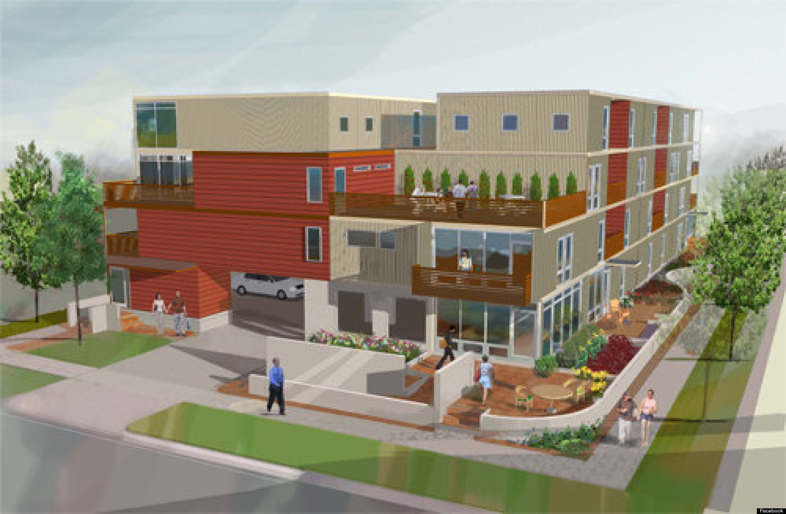 Detroit shipping container condos in development for 2013 Container appartement