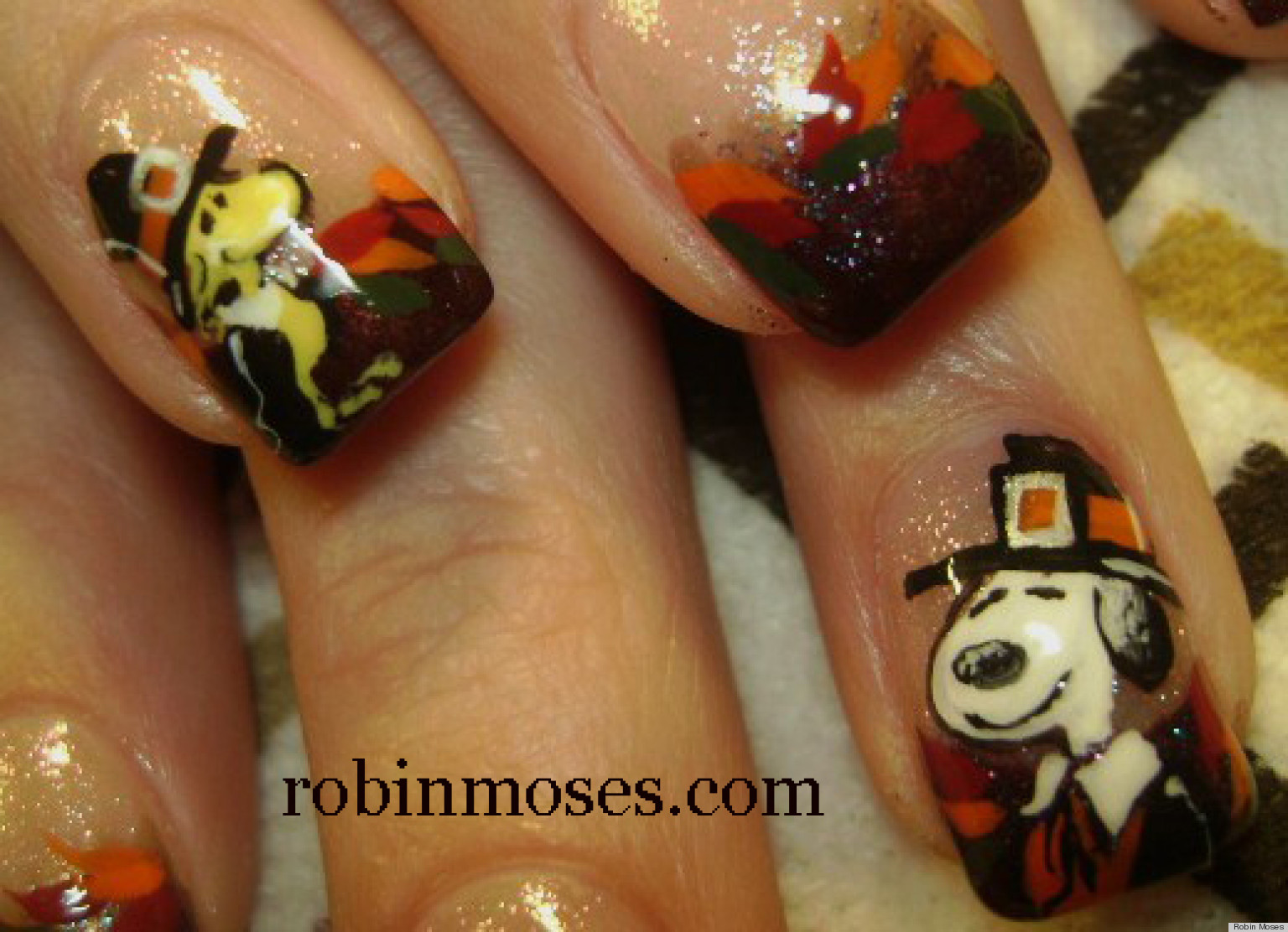 Unusual What Does Nail Fungus Look Like Symptoms Thin Shiny Gold Nail Polish Flat How To Keep Nail Polish From Chipping How Do You Do Nail Art Young Nail Polish Holder FreshTips For Water Marble Nail Art DIY Nail Art: Snoopy And Woodstock Thanksgiving Manicure (VIDEO ..