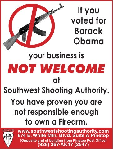 anti obama gun shop