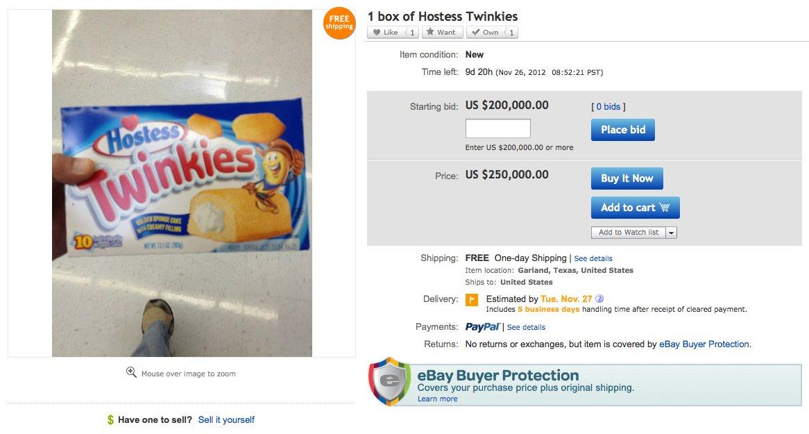 twinkies ebay