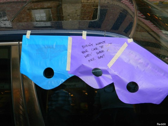 car rain note