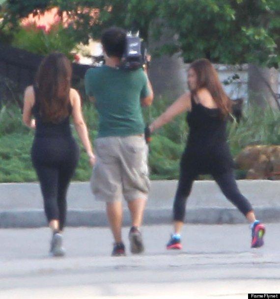 kim kardashian runs