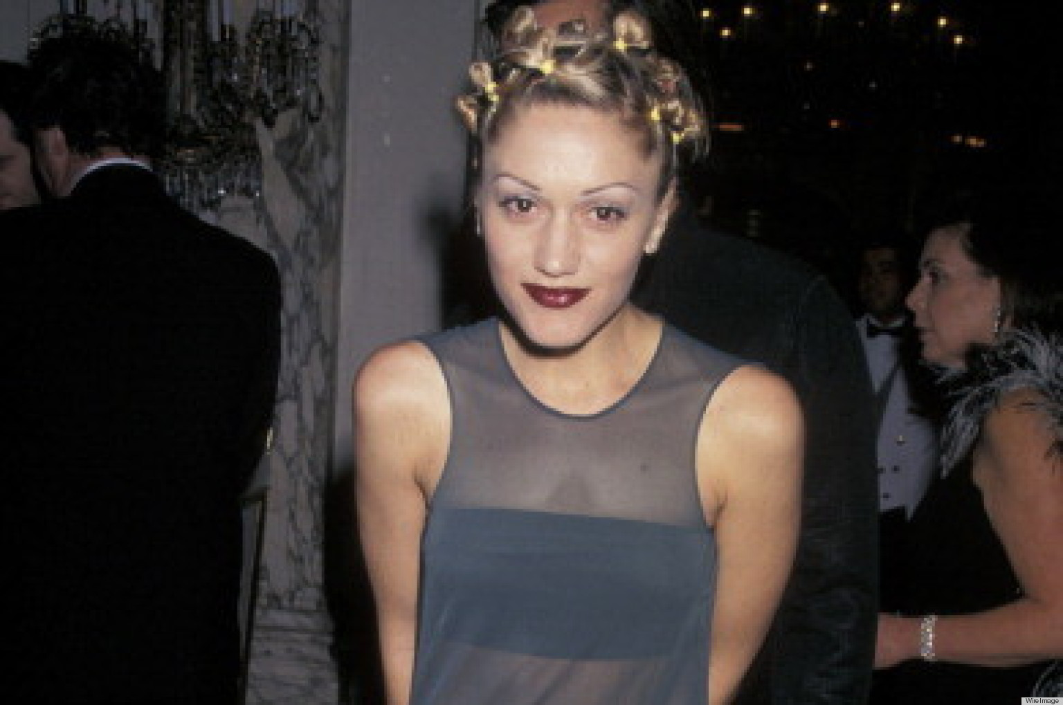 gwen stefani rocked the sheer trend back in the 90s photo