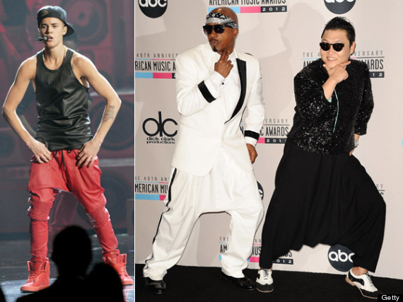 Justin Bieber Harem Pants: Singer, Psy, MC Hammer Rock Drop-Crotch